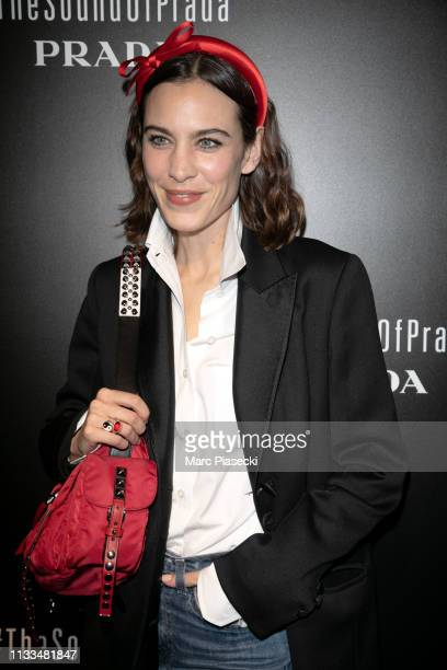 Alexa Chung attends the Prada Party as part of the Paris Fashion Week Womenswear Fall/Winter 2019/2020 on March 03 2019 in Paris France