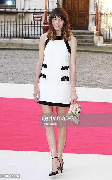 Alexa Chung attends the private VIP view of Royal Academy Summer Exhibition 2012 at Royal Academy of Arts on May 30 2012 in London England
