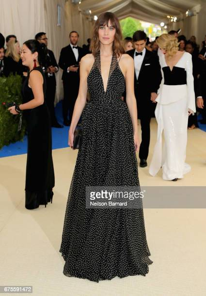 Alexa Chung attends the 'Rei Kawakubo/Comme des Garcons Art Of The InBetween' Costume Institute Gala at Metropolitan Museum of Art on May 1 2017 in...