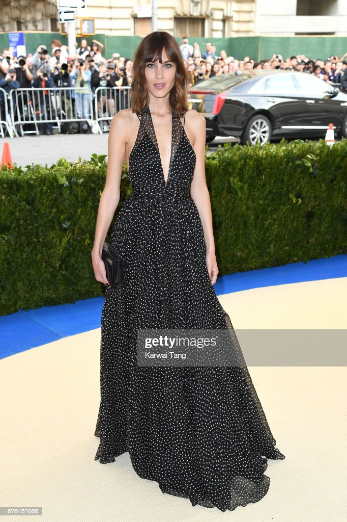 Alexa Chung attends the 'Rei Kawakubo/Comme des Garcons: Art Of The In-Between' Costume Institute Gala at the Metropolitan Museum of Art on May 1, 2017 in New York City.