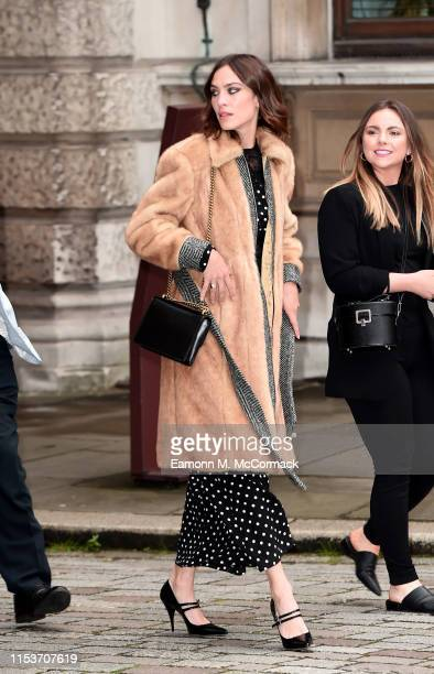 Alexa Chung attends the Royal Academy of Arts Summer exhibition preview at Royal Academy of Arts on June 04, 2019 in London, England.