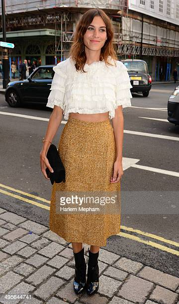Alexa Chung attends the Royal Academy Summer Exhibition Preview Party on June 4 2014 in London England