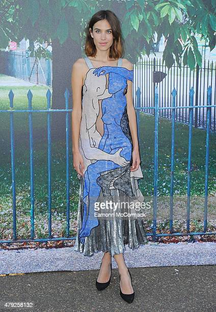 Alexa Chung attends The Serpentine Gallery Summer Party on July 2 2015 in London England