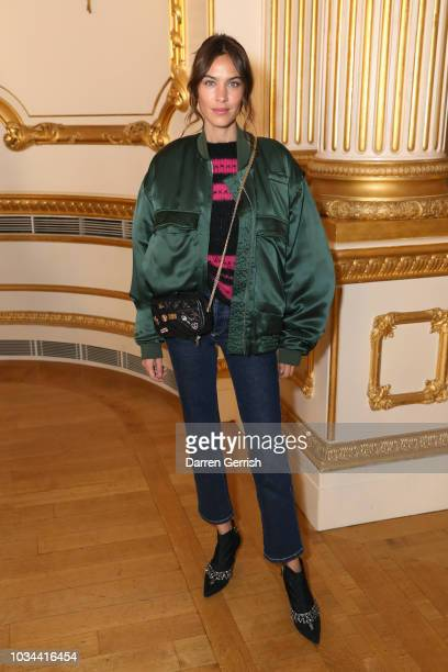 Alexa Chung attends the Simone Rocha show during London Fashion Week September 2018 at Lancaster House on September 16 2018 in London England