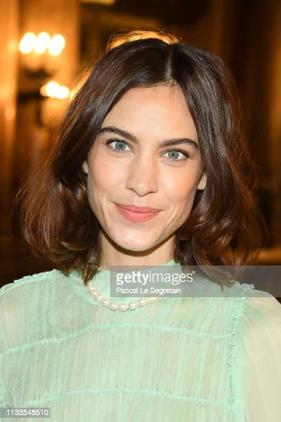 Alexa Chung attends the Stella McCartney show as part of the Paris Fashion Week Womenswear Fall/Winter 2019/2020 on March 04 2019 in Paris France