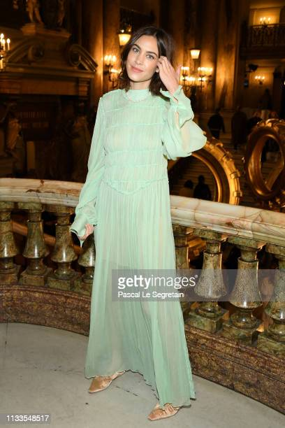 Alexa Chung attends the Stella McCartney show as part of the Paris Fashion Week Womenswear Fall/Winter 2019/2020 on March 04, 2019 in Paris, France.