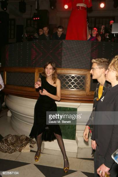 Alexa Chung attends the Universal Music BRIT Awards AfterParty 2018 hosted by Soho House and Bacardi at The Ned on February 21 2018 in London England