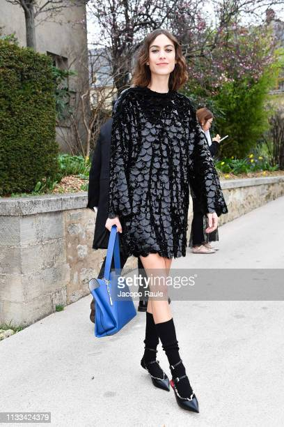 Alexa Chung attends the Valentino show as part of the Paris Fashion Week Womenswear Fall/Winter 2019/2020 on March 03 2019 in Paris France
