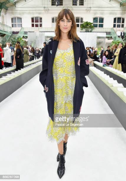 Alexa Chung attends the Valentino show as part of the Paris Fashion Week Womenswear Spring/Summer 2018 on October 1 2017 in Paris France