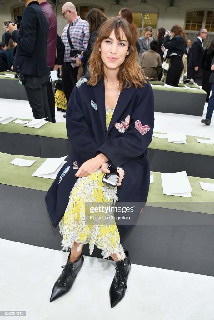 Alexa Chung attends the Valentino show as part of the Paris Fashion Week Womenswear Spring/Summer 2018 on October 1, 2017 in Paris, France.