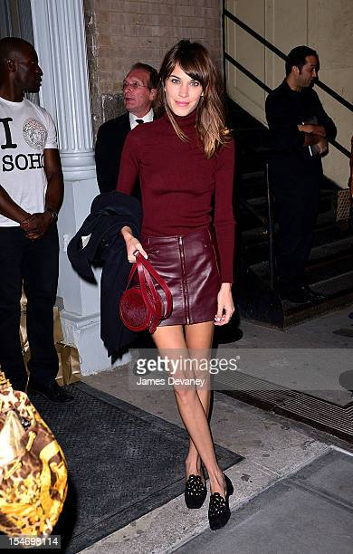 Alexa Chung attends the Versace Dinner at The Waldorf Towers on October 24, 2012 in New York City.