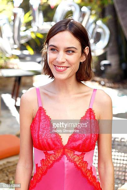Alexa Chung attends the Villoid garden tea party hosted by Alexa Chung at the Hollywood Roosevelt Hotel on April 21 2016 in Hollywood California
