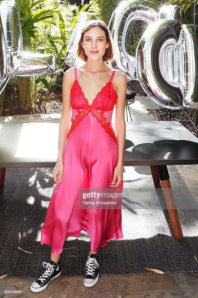 Alexa Chung attends the Villoid garden tea party hosted by Alexa Chung at the Hollywood Roosevelt Hotel on April 21, 2016 in Hollywood, California.