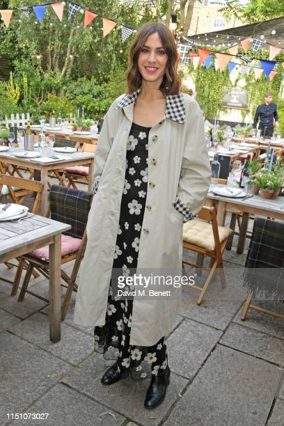 Alexa Chung attends the VIP London launch of the Barbour by ALEXACHUNG collection at The Albion on June 20, 2019 in London, England.