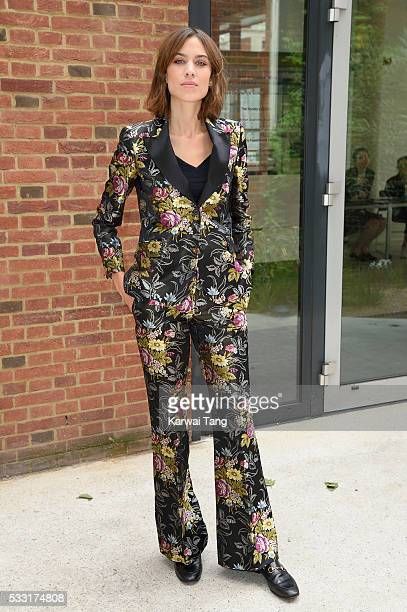 Alexa Chung attends the Vogue 100 Festival Fashion Friendship and Fabulous Lashes at the Royal Geographical Society on May 21 2016 in London England