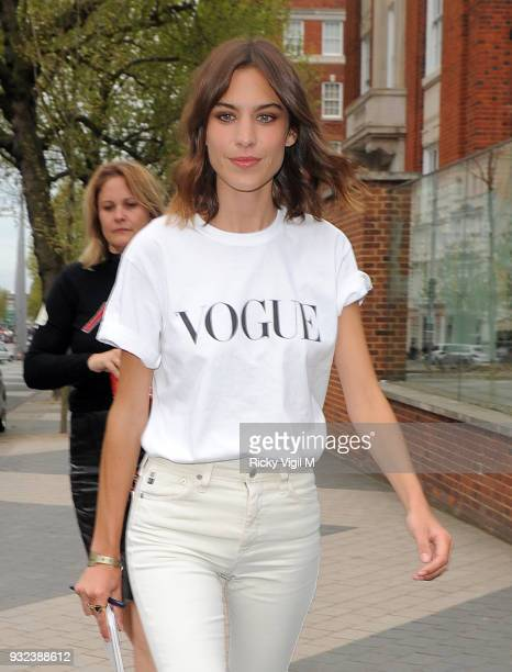 Alexa Chung attends the Vogue Festival Olivier Rousteing x Alexa Chung on Glamour on April 25 2015 in London England