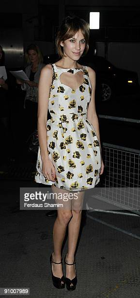 Alexa Chung attends the Vogue Private Dinner during London Fashion Week Spring/Summer 2010 on September 21 2009 in London England