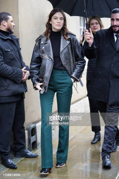 Alexa Chung attends Victoria Beckham at Banqueting House during LFW February 2020 on February 16 2020 in London England
