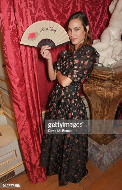 Alexa Chung attends Wendy Yu's Chinese New Year Celebration at Kensington Palace on January 31 2018 in London United Kingdom
