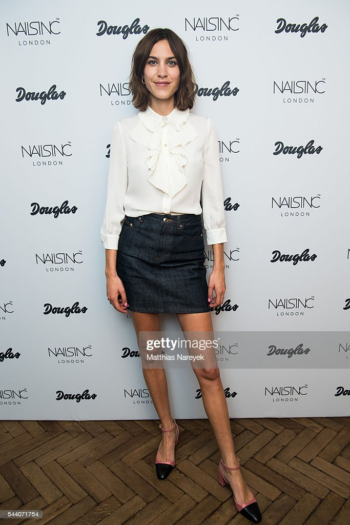 Nails Inc Brand Ambassador Alexa Chung Photocall in Berlin