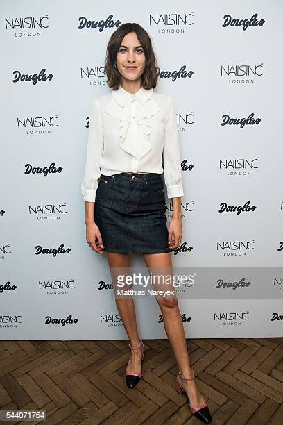 Alexa Chung brand ambassador for Nails Inc an exclusive brand by Douglas poses during a photo call on July 1 2016 in Berlin Germany