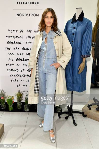 Alexa Chung celebrates Barbour By ALEXACHUNG Fall 2019 Collection at Nordstrom on October 10, 2019 in New York City.