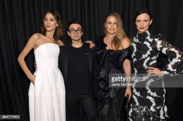 Alexa Chung Christian Siriano Alicia Silverstone and Juliette Lewis attend the Christian Siriano show during New York Fashion Week The Shows at The...