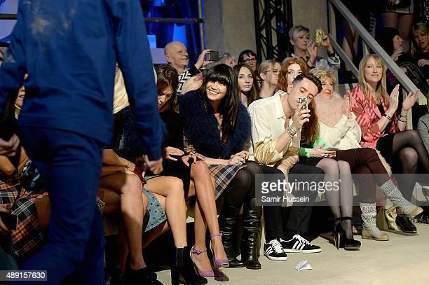 Alexa Chung Daisy Lowe Nick Grimshaw Nicola Roberts Stephanie Holland and Jade Parfitt attend the Henry Holland show during London Fashion Week...