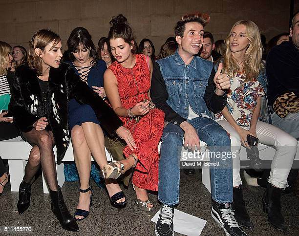Alexa Chung Daisy Lowe Pixie Geldof Nick Grimshaw and Mary Charteris attend the House of Holland show during London Fashion Week Autumn/Winter...
