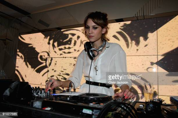 Alexa Chung DJing at the Afterparty for Burberry Prorsum Spring/Summer 2010 Show at Horseferry House during London Fashion Week on September 22 2009...