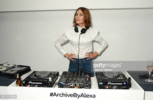 Alexa Chung DJs at a party hosted by Marks and Spencer The British Fashion Council and Alexa Chung to kick off London Fashion Week and celebrate the...