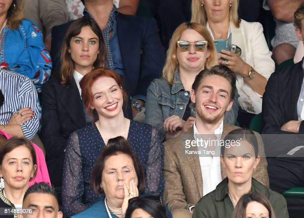 Alexa Chung Eleanor Tomlinson and brother Ross Tomlinson attend day twelve of the Wimbledon Tennis Championships at the All England Lawn Tennis and...