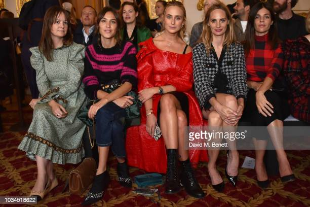 Alexa Chung Elisabeth von Thurn und Taxis Lauren Santo Domingo and Julia Restoin Roitfeld attend the Simone Rocha front row during London Fashion...