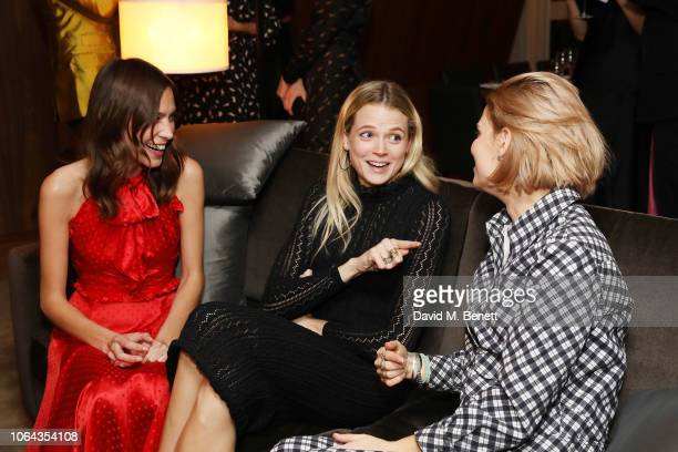 Alexa Chung Gabriella Wilde and Pixie Geldof wearing ALEXACHUNG attend Alexa Chung's CHUNGSGIVING dinner to celebrate Thanksgiving and the launch of...