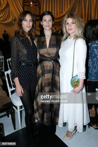 Alexa Chung Gemma Arterton and her sister Hannah Jane Arterton attends the Christian Dior Haute Couture Spring Summer 2018 show as part of Paris...