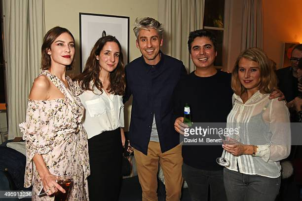 Alexa Chung George Lamb and guests attend a private dinner hosted by Alexa Chung to celebrate the launch of her app Villoid and her upcoming Elle...