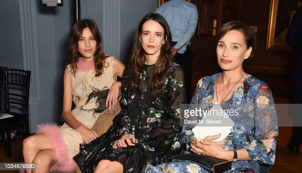 Alexa Chung guest and Dame Kristin Scott Thomas attend the Erdem front row during London Fashion Week September 2018 at the National Portrait Gallery...