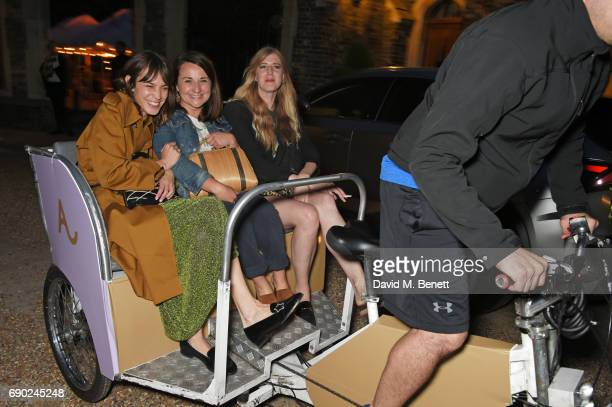 Alexa Chung guest and Gillian Orr attend the ALEXACHUNG London Launch Summer 17 Collection Reveal at the Danish Church of Saint Katharine on May 30...