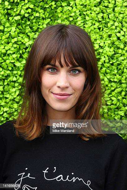 Alexa Chung host the launch of the Annual British Designers Collective at Bicester Village on March 21 2012 in Bicester England