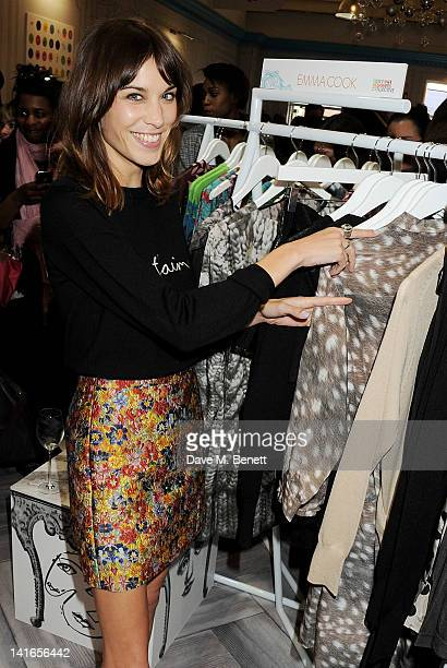 Alexa Chung hosts the Bicester Village British Designers Collective launch on March 21 2012 in Bicester England