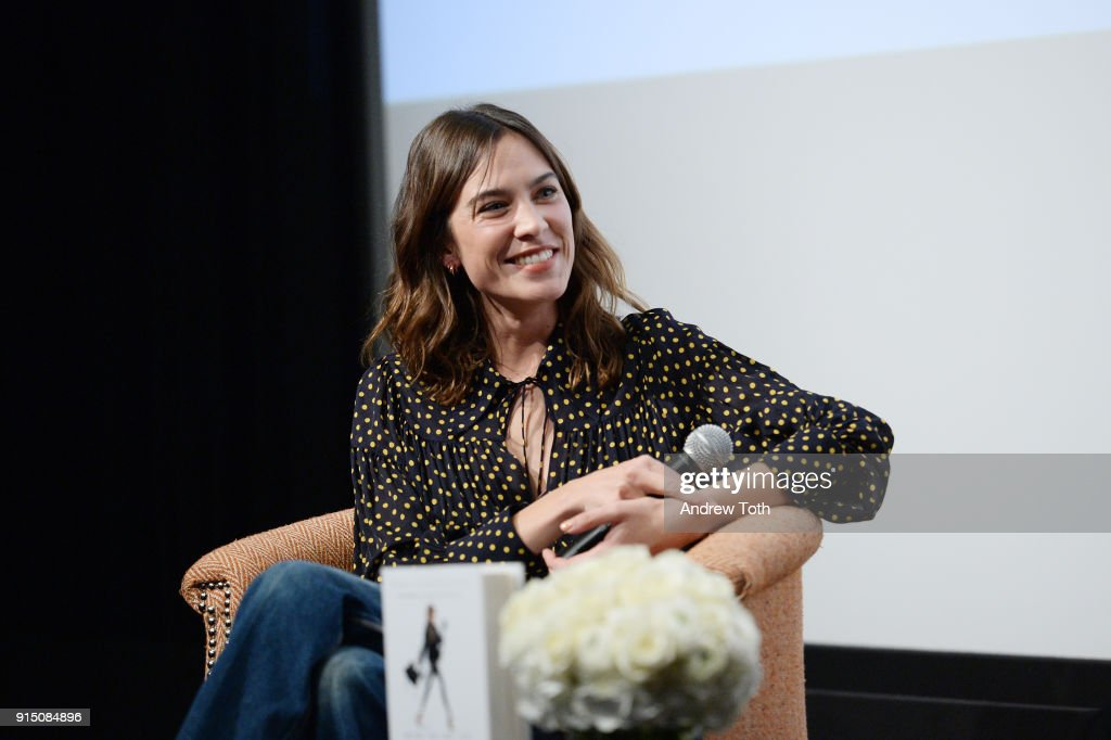 Alexa Chung (pictured) interviews Maria Hatzistefanis for the launch of How To Be An Overnight Success at Crosby Street Hotel on February 6, 2018 in New York City.