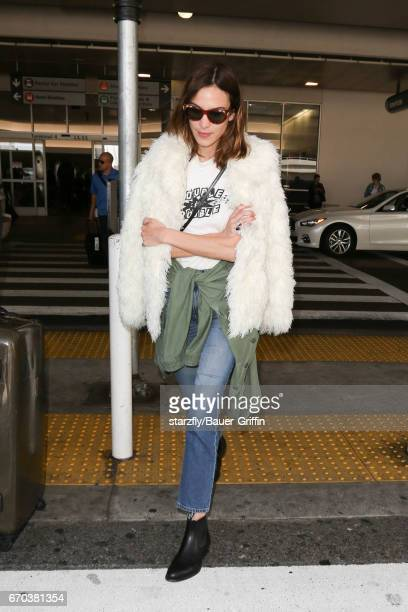 Alexa Chung is seen at LAX on April 19 2017 in Los Angeles California