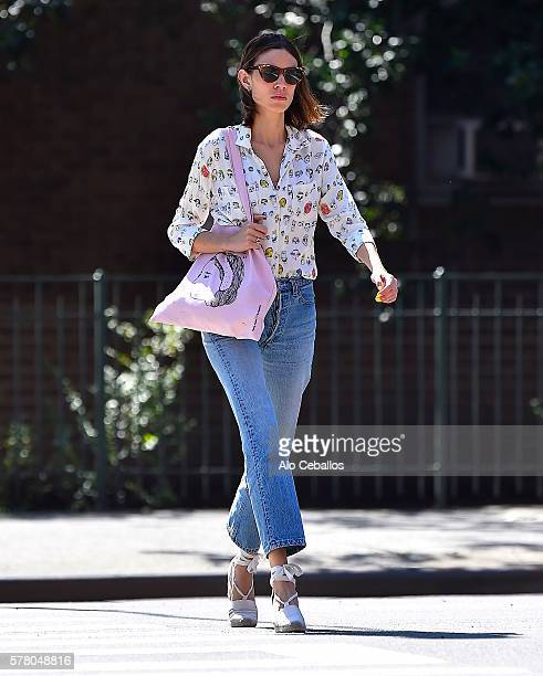 Alexa Chung is seen in Soho on July 20 2016 in New York City