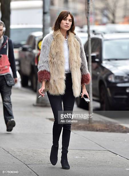 Alexa Chung is seen in Soho on March 25 2016 in New York City