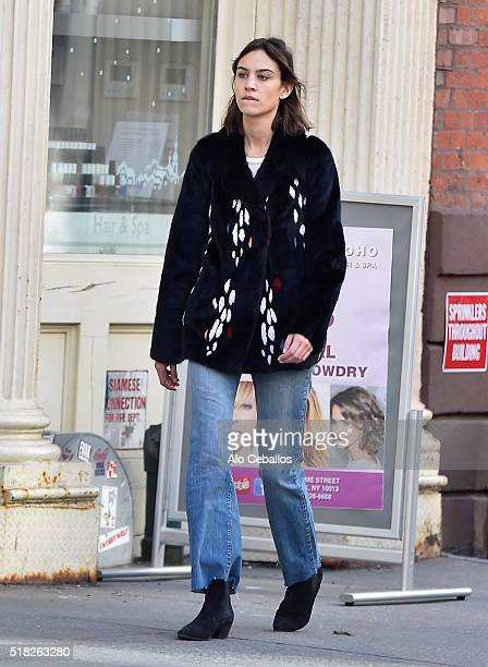 Alexa Chung is seen in Soho on March 30 2016 in New York City