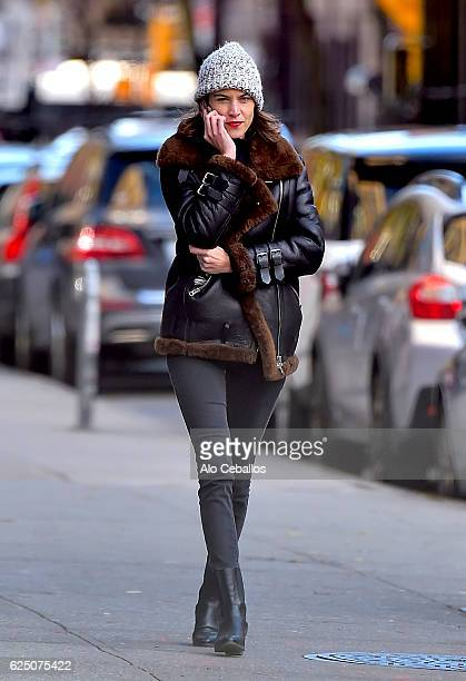 Alexa Chung is seen in Soho on November 22 2016 in New York City