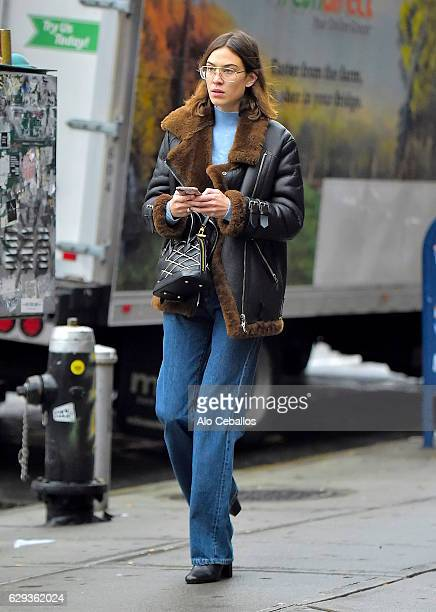 Alexa Chung is seen in the East Village on December 12 2016 in New York City