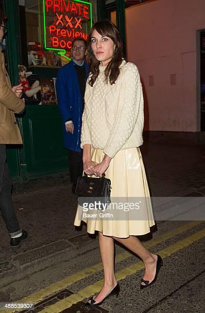 Alexa Chung is seen on February 19, 2013 in London, United Kingdom.