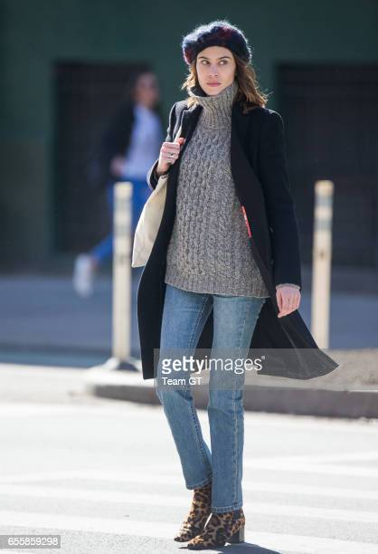 Alexa Chung is seen on March 20 2017 in New York City