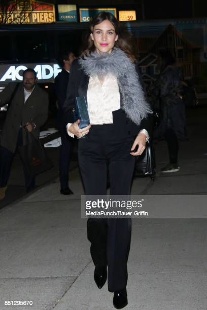 Alexa Chung is seen on November 28 2017 in New York City